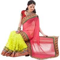 Fashionista Printed Embellished Net, Georgette Sari