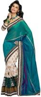 Fashionista Printed Embellished Viscose Sari
