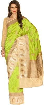 Rangoli Rangoli Self Design Fashion Silk Sari (Green)