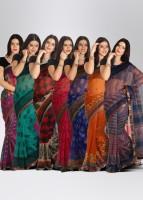 Boondh Georgette Sari