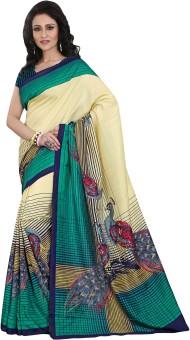 Yuvanika Printed Mysore Art Silk Sari