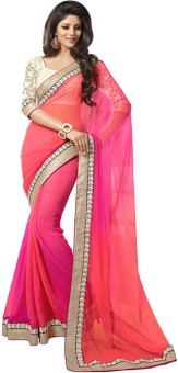 Jhilmil Fashion Self Design Fashion Georgette Sari
