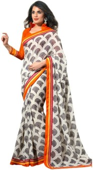 Nanda Silk Mills Printed Bollywood Cotton, Silk Sari - SAREYHQTENXJT6AP