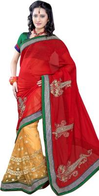 Triveni Solid Bhagalpuri Net Sari