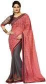Aarti Saree Embriodered Fashion Georgette, Brasso Sari