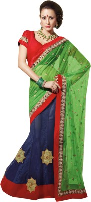 Triveni Self Design Lehenga Saree Georgette Sari
