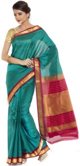 Sudarshan Silks Self Design Kanjivaram Handloom Silk Sari