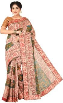 Creation Applique Bhagalpuri Art Silk Sari