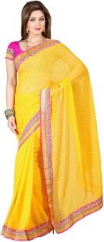 Hemakshi Self Design, Solid Bollywood Machine Chiffon Sari
