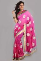 Aparnaa Printed Embroidered Embellished Chiffon Sari