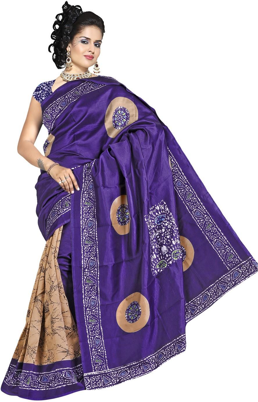 Offer Point Printed Fashion Printed Silk Sari