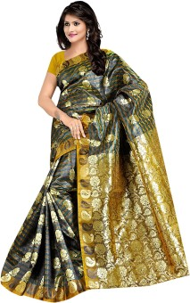 Parichay Self Design Kanjivaram Handloom Silk Sari