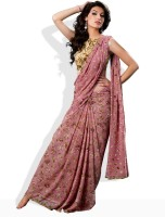 Seymore Printed Synthetic Sari