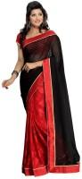 Nanda Silk Mills Self Design Embellished Chiffon, Jacquard Sari