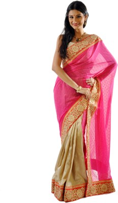 Shree Saree Kunj Self Design Embroidered Embellished Georgette, Jacquard Sari