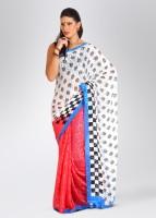 Mrignain Jacquard Sari