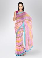Mrignain Printed Georgette Sari