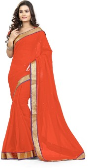 Saree Exotica Solid Daily Wear Chiffon Sari
