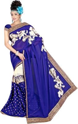Alira Solid Bollywood Georgette Sari (Multicolor)