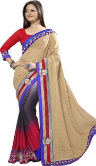 Manvaa Self Design Fashion Jacquard, Crepe Sari