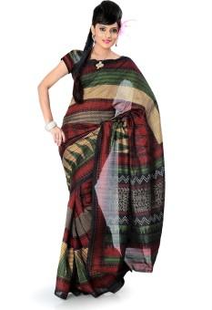 Designersareez Printed Bhagalpuri Art Silk Sari