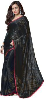 Rajesh Silk Mills Printed Fashion Crepe, Jacquard Sari