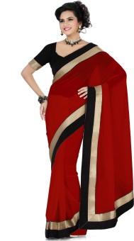 Deepika Saree Solid Embellished Georgette Sari - SARE24NXJYYSGAMD
