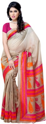 Art Silk Dream Saree Printed Fashion Art Silk Sari (Multicolor)