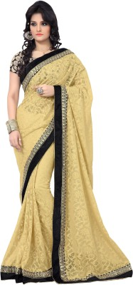 Kiran Saree Embriodered Bollywood Brasso Sari available at Flipkart for Rs.2450