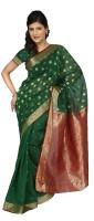 Paaneri Polka Print Cotton, Silk Sari