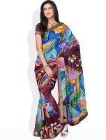 Manvi Graphic Print Georgette Sari