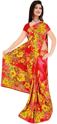 Art Silk Nj Fabric Printed Fashion Art Silk Sari (Red)