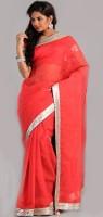 Aparnaa Solid Embroidered Embellished Art Silk Sari