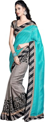 Bhagalpuri Priya Fashion Self Design Bhagalpuri Art Silk Sari (Blue)