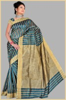 Pavechas Striped Cotton Sari