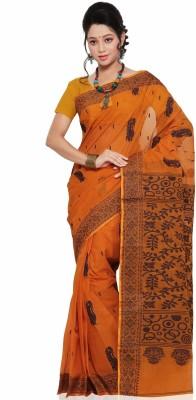 Jayanshi Self Design Tangail Handloom Cotton Sari (Multicolor)