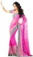 Samyakk Floral Print Net Sari