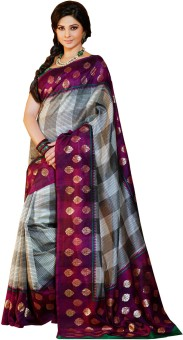 Click Sarees Self Design Embellished Art Silk Sari