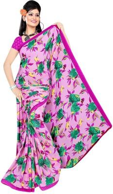 Art Silk Nj Fabric Printed Fashion Art Silk Sari (Violet)