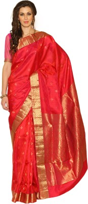Rangoli Rangoli Self Design Coimbatore Silk Sari (Red)
