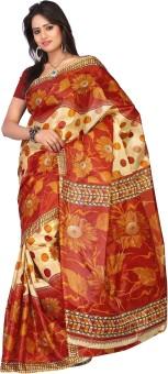 Kajal Sarees Floral Print Embellished Georgette Sari