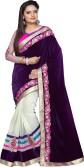 Apka Apna Fashion Embriodered Bollywood Net, Velvet Sari