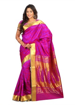 Saree Exotica Self Design Kanjivaram Art Silk Sari