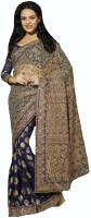 Stylelok Printed Embroidered Net Sari