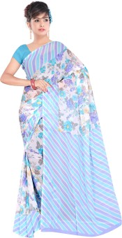 Shiv Silk Mills Floral Print Daily Wear Pure Georgette Sari