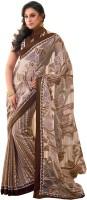 Fashionista Printed Embellished Tissue, Art Silk Sari