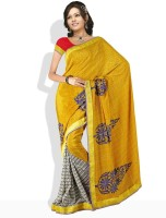 Dori Solid Synthetic Sari