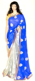 harika Embriodered Fashion Georgette, Shimmer Fabric Sari