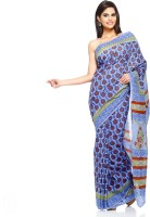 Aapno Rajasthan Floral Print Cotton Sari - SARDVX3FXXVYXE96