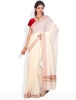 Ennthra Solid Cotton Sari